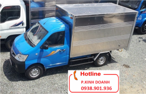 Bán xe tải Thaco Towner950A thùng kín tải 615 kg, máy suzuki,bán xe trả góp.