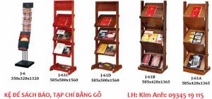 Giá kệ để sách báo tạp chí bằng gỗ giá rẻ Hà Nội