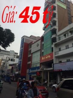 Khách sạn Góc 2MT Nguyễn Trãi gần cống quỳnh,Q1.DT: 5,2x20, nở hậu 8m, 45 tỷ