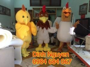 May mascot, linh vật biểu diễn, đồng phục áo thun mè giá rẻ