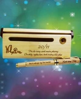 Món quà ý nghĩa tặng thầy cô Bút gỗ