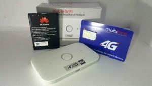 Huawei E5573 phát wifi 4G – Tặng sim 4G Mobifone 62GB/thang  free 2 tháng và 1 pin rời
