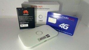 Huawei E5573 phát wifi 4G – Tặng sim 4G Mobifone 62GB/thang