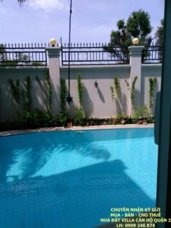 Cho thuê Villa sân vườn hồ bơi view sông SG Thảo Điền Quận 2, 5 PN, giá 90tr