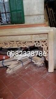 Bàn thờ gỗ hương vân chân 12 dài 197 rộng 97 cao127