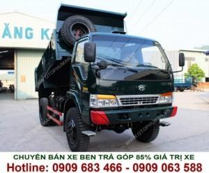 Xe tải ben 2.5 khối - xe tải tự đổ dưới 5 khối máy dầu 1 cầu / 2 cầu Chiến Thắng