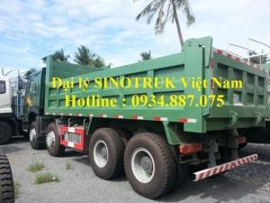 Bán xe ben Howo 371 4 chân thùng vuông đúc 14 khối / xe ben howo 4 chân 371 nhập khẩu