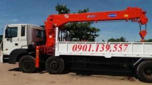 HD320 gắn cẩu Kanglim 10 tấn  5 khúc