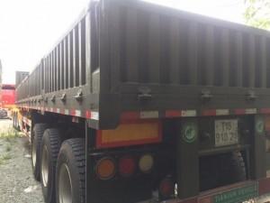 Sơmi Rơmooc Thùng Lửng 40 Ft 3 Trục 12.4m thành cao 66 cm tải trọng cao