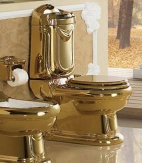 Toilet bồn cầu vàng cổ điển