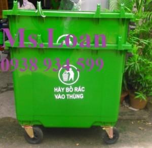 Bán thùng rác công nghiệp bằng nhựa 660 lít