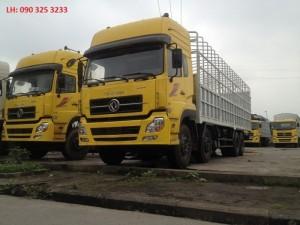 Bán Xe tải thùng 4 chân Dongfeng tải trọng 17,9 tấn 2016, 2017