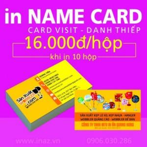 In card visit tphcm, danh thiếp, name card giá rẻ