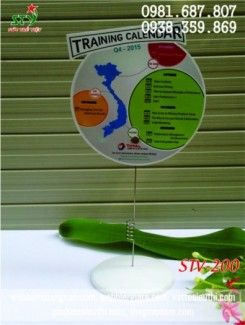 Wobbler chân nhựa quảng cáo, wobbler đế nhựa, wobbler để bàn,kẹp quảng cáo