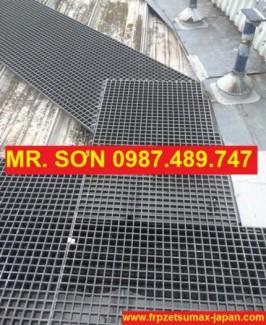 Sàn thao tác trên mái nhà xưởng, chống tia uv, chống ăn mòn - Mới 100%.