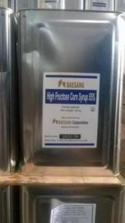 Bán nguyên liệu đường Ngô (HIGH FRUCTOSE CORN SYRUP 55% 25kg/thùng HQ)