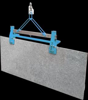 - Kẹp đôi dạng xếp được thiết kế để kết hợp với giá cẩu nhằm nâng và di chuyển tấm đá có bề mặt dài và rộng.  - Thiết kế tự động mở và khóa sẽ giúp việc sử dụng sản phẩm có hiệu quả và an toàn. - Tải trọng lớn nhất có thể lên tới 1000kg