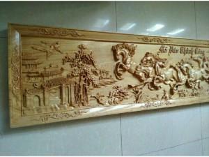 Hàng trang gỗ treo tường