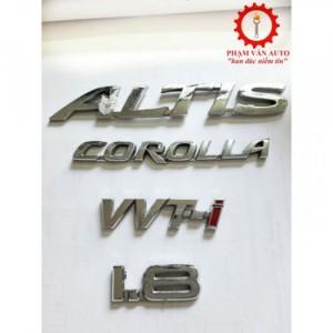 Chữ Corolla Altis vvti 1.8