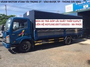 Xe tải veam 2t/ xe tải veam 2t thùng siêu dài / xe tải veam 2t vào tp