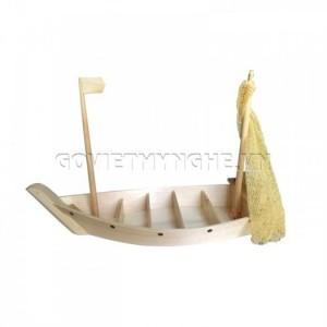 Khay Thuyền Gỗ - Set Up Món Rau Lẩu - Hải Sản 40cm
