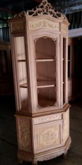 Tủ rượu góc 60×60 gỗ hương vân