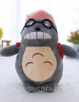 Gấu bông Totoro đeo kính tròn