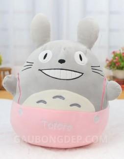 Gấu bông Totoro nhung quần hồng