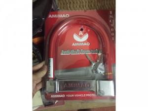 Khoá xe amimao đỏ