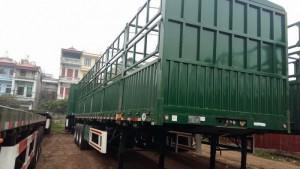 Sơmi rơ móoc lồng 12,4m CIMC tải 31,7 tấn 3 trục