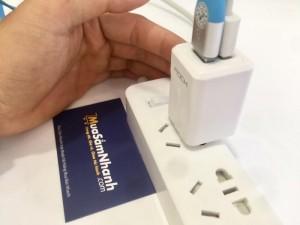 Cóc Sạc Rock T2 GS-50210C, Hỗ trợ 2 cổng USB 2.1A