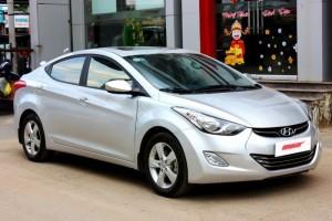Bán Hyundai Elantra GLS 1.8AT màu ghi bạc 2013 full options