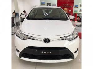Bán Toyota Vios 1.5E CVT, số tự động, 2017, giao ngay, khuyến mãi 50 triệu, trả góp lãi suất 0.58%