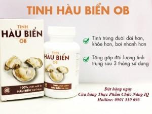 Tinh hàu biển OB hỗ trợ điều trị vô sinh, giúp tăng cường chất lượng và số lượng tinh trùng