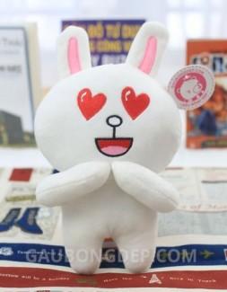 Gấu bông Thỏ Cony mắt trái tim