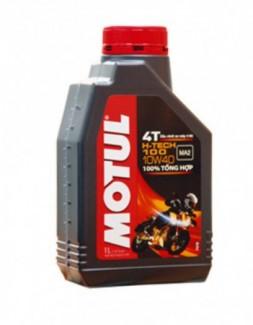 Nhớt tổng hợp Motul Hi-Tech 100 4T 10W40 1L cao cấp cho xe máy và xe tay ga