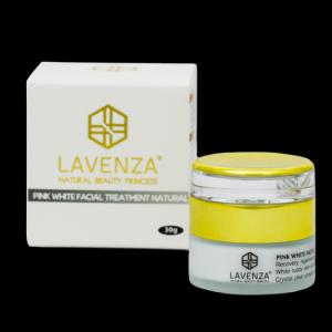 Kem Dưỡng Trắng Da Mặt Pink White Facial Treatment Natural Lavenza