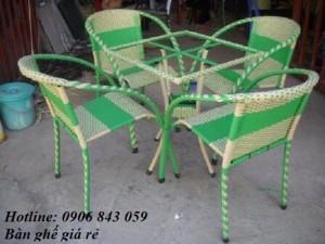 Thanh lý bàn ghế mây giá rẻ nhất,  nhận giá ưu đãi thêm