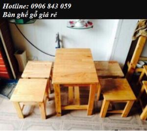 Thanh lý mấy bộ bàn ghế gỗ cà phê giá rẻ -...