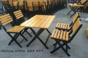 Bàn ghế gỗ quán ăn giá rẻ, miễn phí vận chuyển