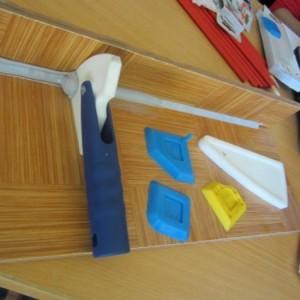 Miếng nhựa kéo xilicon định hình