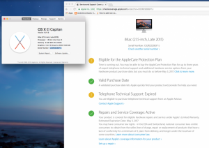 iMac Late 2015 1TB, 21 inch