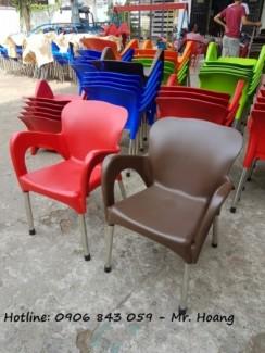 Thanh lý lô ghế nhựa cà phê, đủ màu lựa chọn
