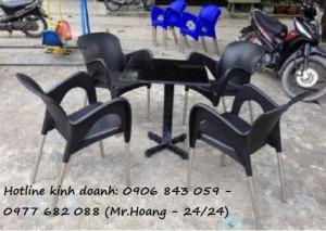 Bộ bàn ghế cà phê nhựa đúc MS1