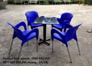 Bộ bàn ghế nhựa đúc cà phê MS3
