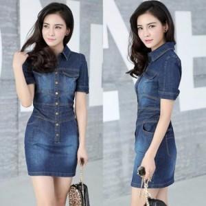 Đầm Jean mẫu mới FORM ĐẸP - GIỐNG HÌNH Giá: 260.000 Màu Sắc: Xanh Chất Liệu: Jean Size: free size (45-55kg mặc đẹp)