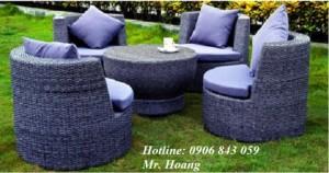 Sofa nhựa giả mây MS1