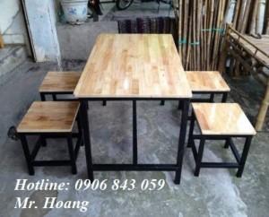 Bộ bàn ghế gỗ cho kinh doanh cafe, quán nhậu, miễn phí vận chuyển