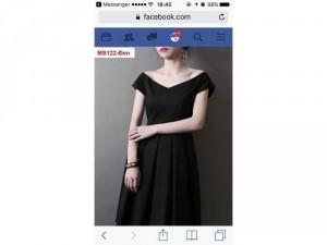 Đầm đen công sở sang trọng