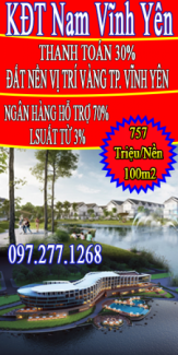 Khu Đô Thị Nam Vĩnh Yên đã có sổ đỏ
